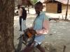 Chain saw operator