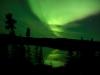 Green ray above the lake
